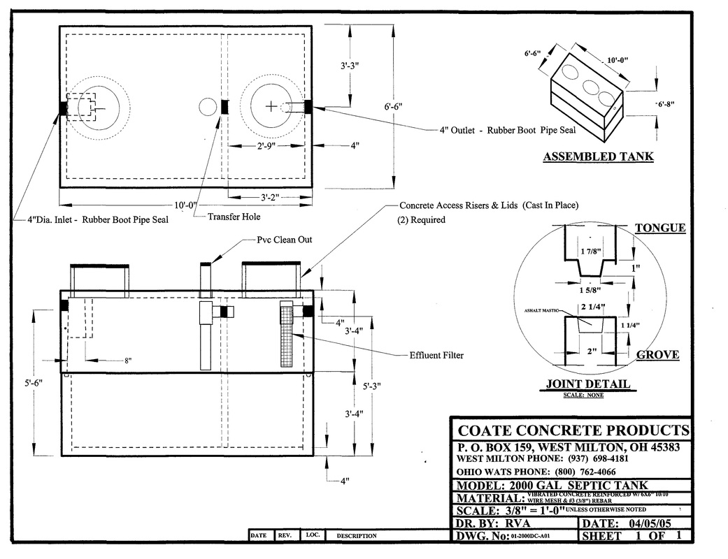 Septic Tanks (Dayton Area) - Coate Concrete Products