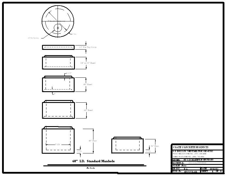 Manholes Coate Concrete Products