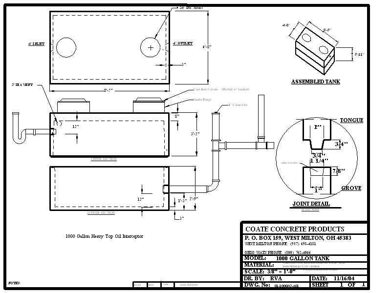 Oil Interceptors Coate Concrete Products