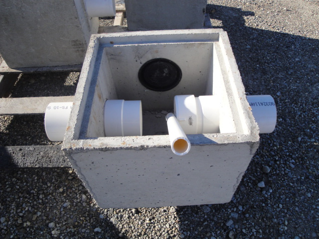 Misc riser lids coate concrete products for Septic tank distribution box location